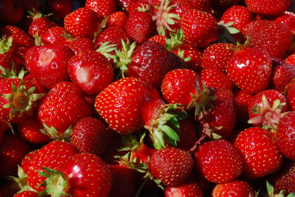 Our garden strawberries