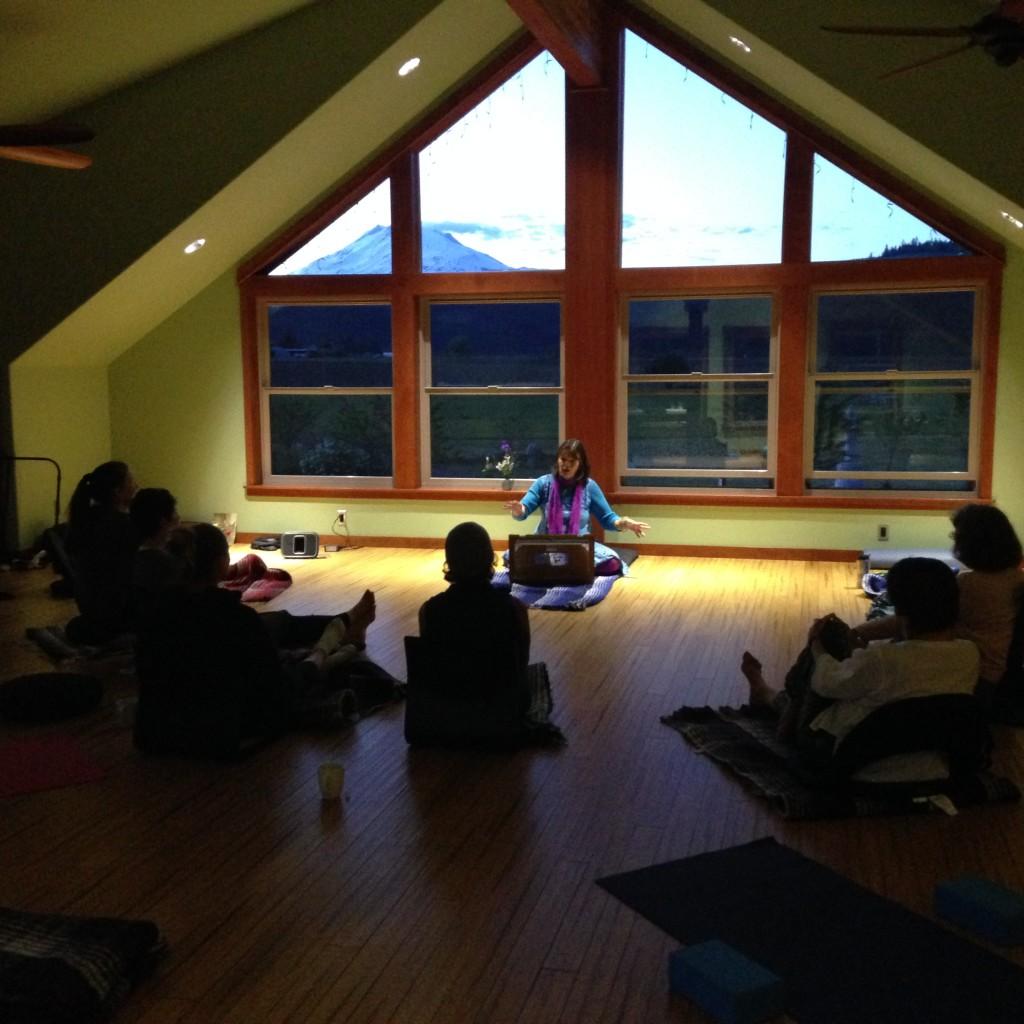 Spiritual work in the Mountain Room