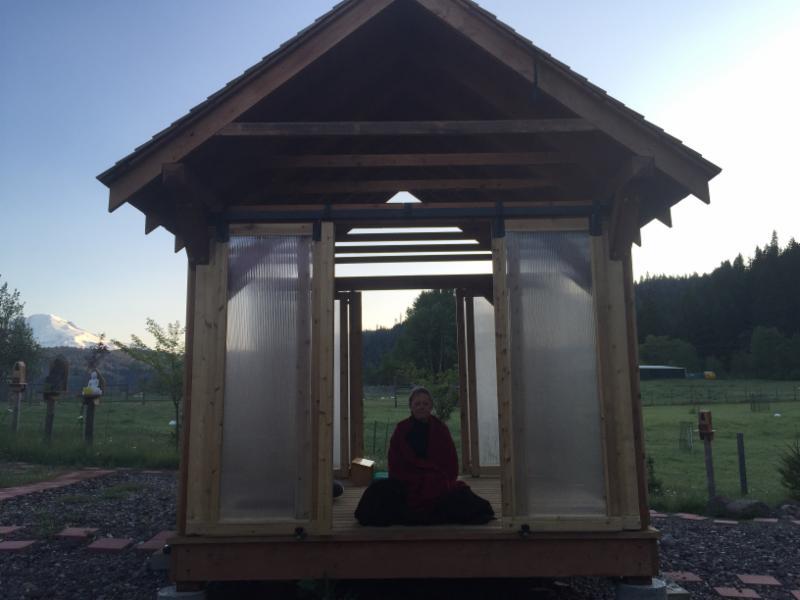 Meditation Platform in the Cloister Garden