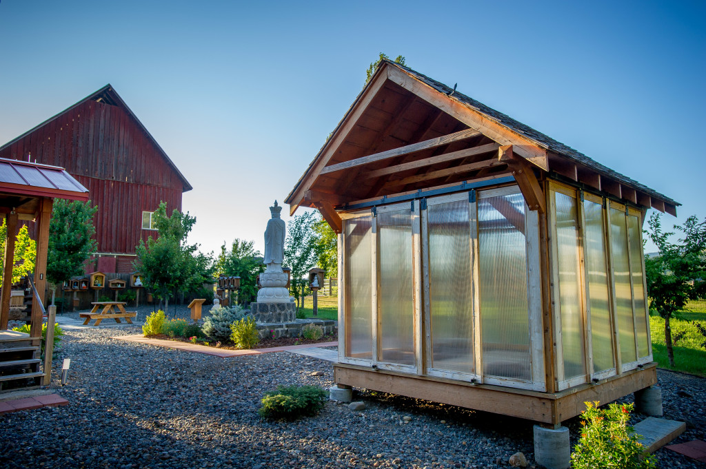 The Meditation Platform in the Cloister Garden