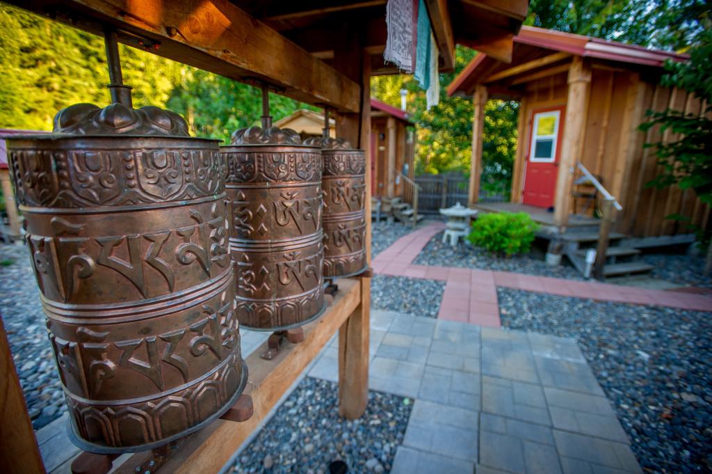 Buddhist Prayer Wheels in the Cloister Garden