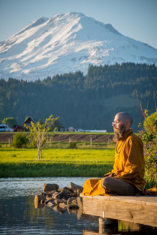 Meditation near the Abbey Pond